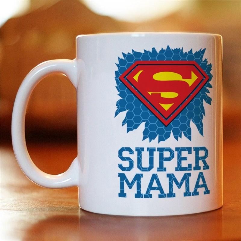 "Чашка з картинкою ""Super Мама"""
