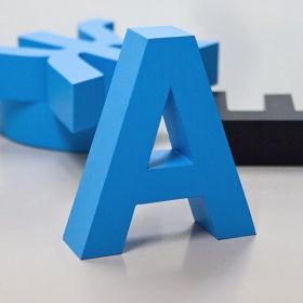 Об'ємні букви без підсвічування