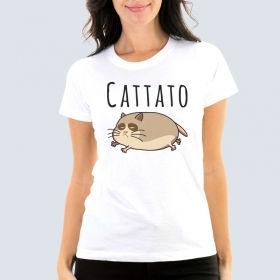 """Футболка з принтом """"Cattato"""""""