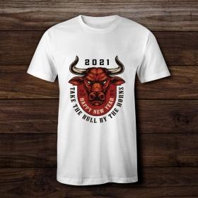 Футболка с принтом Take the bull by the horns (FTB-156)