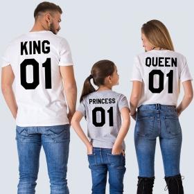 Футболки с принтом Королевская семья (FTB-163)