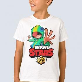 Футболка з принтом Brawl Stars Leon (FTB-40)