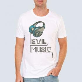 "Футболка з принтом ""Evil Music"""