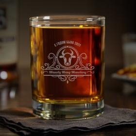 Іменна склянка для віскі З роком бика (SW-NY01)