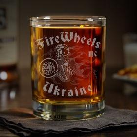 Іменна склянка для віскі з гравіюванням вашого логотипу